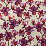 Flores Beige-Morado (Polilycra)