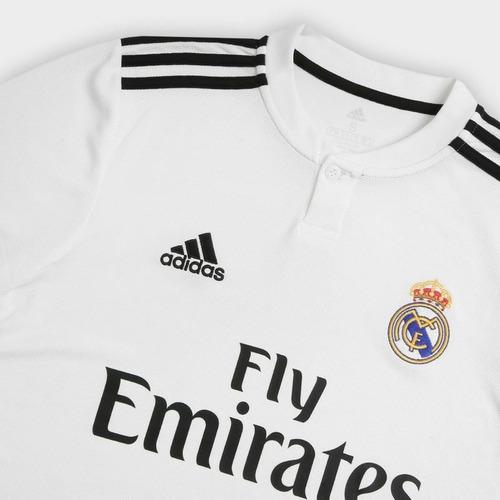 Camisa Real Madrid Torcedor Oficial adidas Masculina 2018 - R  125 ... 63f9c2a5ffc44