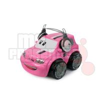 Carrinho De Controle Remoto Uno Rosa Fiat-fun 3 Funções
