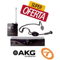 Microfone Akg Pw 45 Sset Sem Fio Auricular Headset Original
