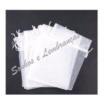 50 Saquinhos De Organza 10x15 Cm -brancos * O Mais Barato *