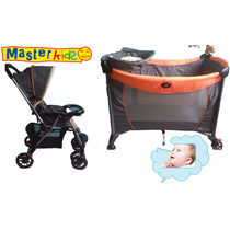 Corral Cuna Y Coche Combo Master Kids