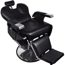 Silla Sillon Barber Shop / Estetica Peluqueros Spa Negra Eb2