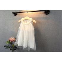 Vestido Importado Bebe Bautismo Nacimiento Blanco De Perlas