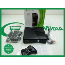 Console Xbox 360 Slim 250gb + Kinect + 2 Controles + 5 Jogos