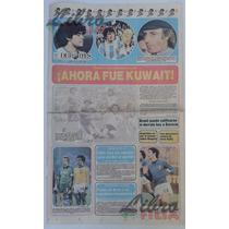 Mundial España 82 Periódico El Universal 18 De Junio De 1982