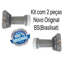 2 Lnbf Duplo Brasilsat Lnbf Hd Ku Novo Original