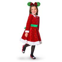 Minnie Mouse Vestido Navideño Talla 5 Disney Store
