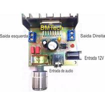 Kit Amplificador Pc 30w Rms Estéreo Montado C/ Fonte