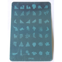 Placas Decalques Adesivo Para Unha + Carimbo 42 Desenhos