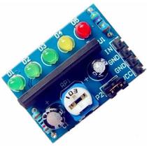 Par De Vu 5 Led Bargraph Nível Audio E Baterias Frete $12