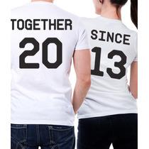 Playeras Parejas Personaliza Tu Aniversario Together Since