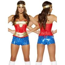 Disfraz De Mujer Maravilla Super Heroe Para Damas