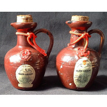 2 Miniaturas Botellita - Whisky Vasija Ceramica
