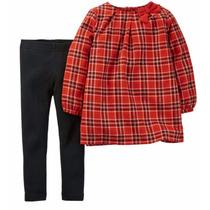 Carters Set Camisola Cuadrillé Y Calzas Talle 24m