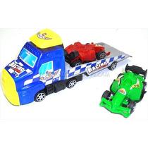 Carro Camion Grua De Juguete Mas 2 Carros Y Catapulta Rampa