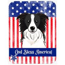 Dios Bendice La Bandera Americana Con La Frontera De Cristal