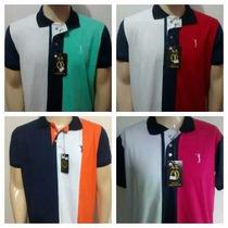 Kit 5 Camisas Polos Listradas (mod. Aleatory)