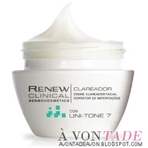 Creme Rosto Antiidade Renew Clinical Clareador - Avon