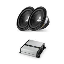 Paquete Jl Audio Con 2 Woofers 10w0v3 + 1 Amplificador Clase