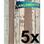 Papel Adesivo Contact Madeira De Demolição 45cmx10mt / 5 Und