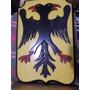 Escudos X 3 Uno Tallado Sobre Madera Aguila Bicefala