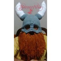 Gorritos Tejidos Gorra De Vikingo Con Barba Todas Las Tallas