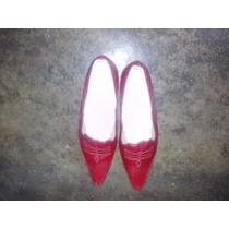 Zapatos Rojos De Cuero Colombiano Talla 40