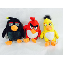 Angry Birds Pelúcia Kit Com 3