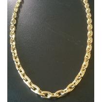 Cordão Cartier Italiano Cadeado _ Prata Banhada A Ouro 24k