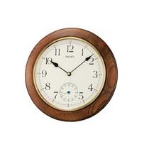Reloj Seiko Qxa432bl Pared Madera Agente Oficial