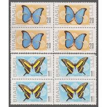 1971 C-695/96 Quadra Selos Série Fauna Brasileira Borboletas