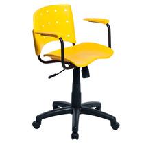 Cadeira De Escritório Color Design Designchair Amarelo