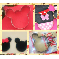 Cortante Mickey Minnie Grande Tortas Galletitas Porcelana
