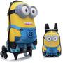 Mochila Escolar + Lancheira Mochilete 3d Minion Dave 3rodas