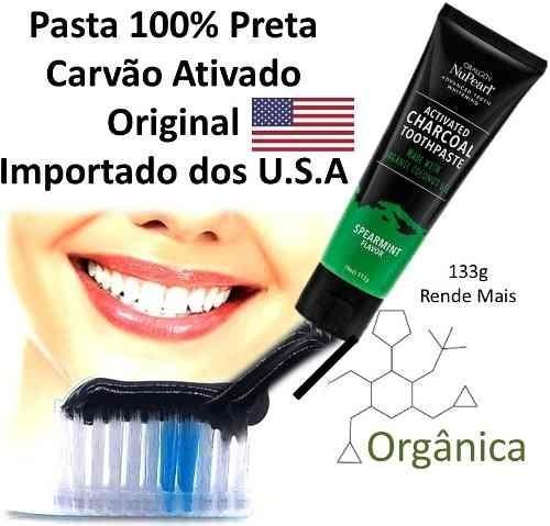 Carvao Ativado Pasta Preta Clarear Dente Clareamento Oralgen R 48