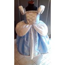 Disfraz Vestido Princesa Cenicienta Con Enagua