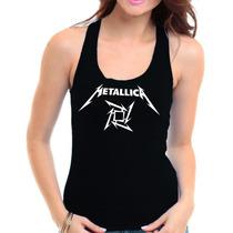 Regata Metallica - Feminina Camiseta Banda Rock Heavy Metal