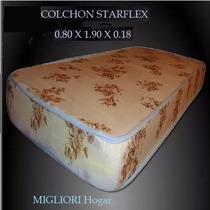 Colchon Starflex Espuma 1 Plaza 0.80 X 1.90 X 0.18