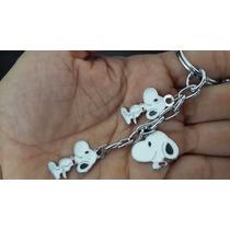 Snoopy Llavero De Dijes Acero Inoxidable Snoopy 0980