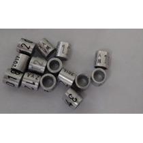 Anilhas Para Pássaros Canários 3,0mm Alumínio Pacote De 10x