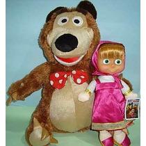 Masha E O Urso Boneca Masha Musical + Urso Grande Pelúcia