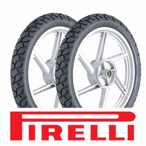 Kit Pneu Moto 110/90-17 E 90/90-19 Pirelli Nxr Bros/falcon