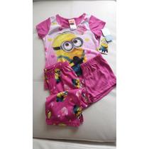 Minions Pijama-terno De Dormir 3 Piezas Talla 4 $25 Envio Gr