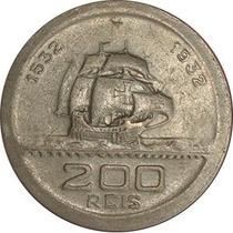 Moeda Antiga De 200 Reis 1932, Vicentina. Mbc++