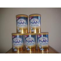 Lote X 5 Unidades Nan Sin Lactosa Nestle Leche Polvo 400g
