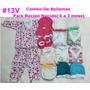 Combo De 6 Pijamas Para Recien Nacida (0 A 3 Meses) H V