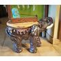 Elefante Hindú De Yeso Pintado A Mano Mesa De Apoyo