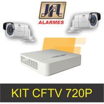 Kit Cftv Jfl Dvr Com 4 Cameras Em Hd Definição 720p Promoção