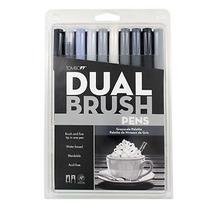 Tombow Dual Brush Set 10 Escala De Grises